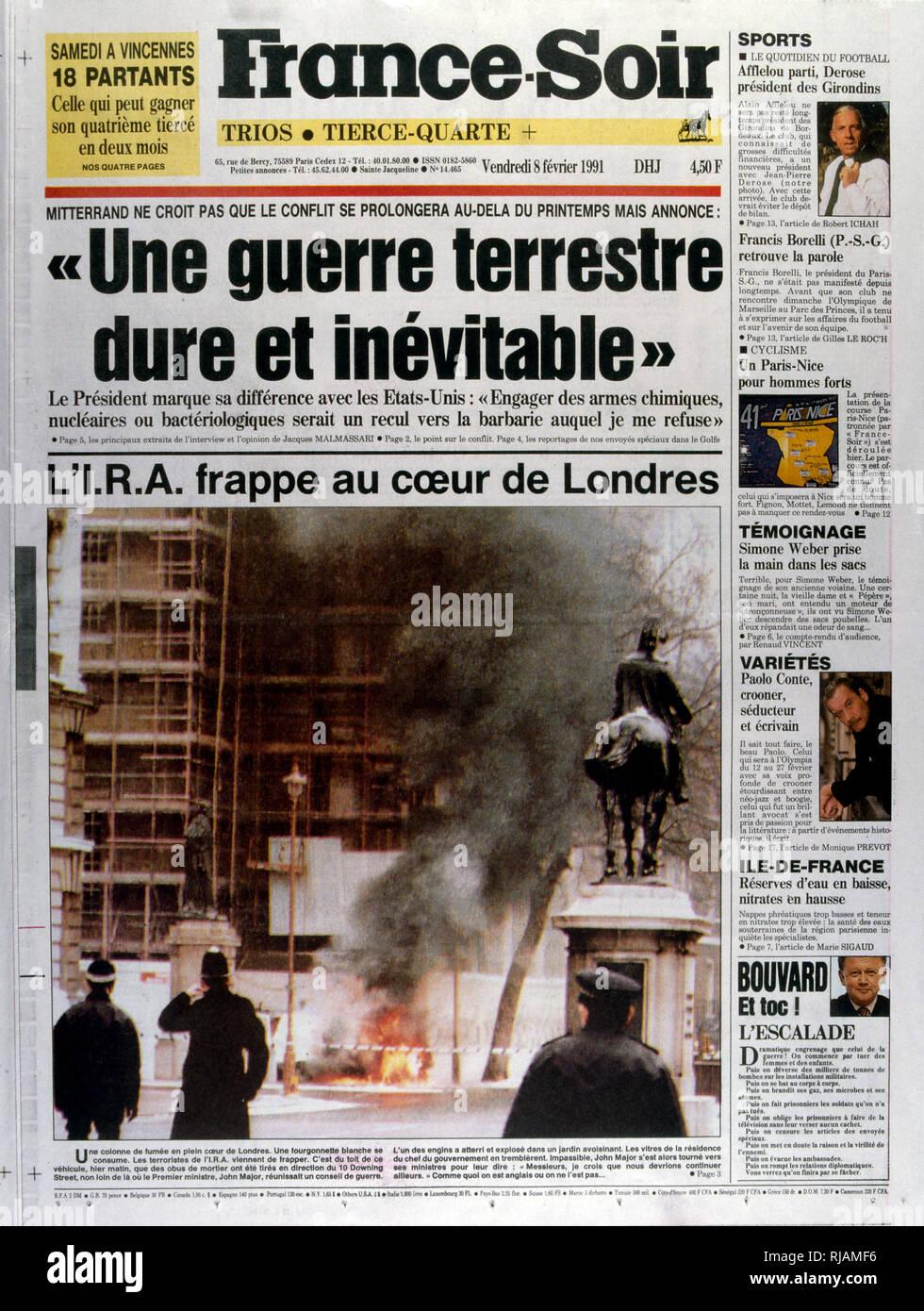 Primera página de la publicación francesa