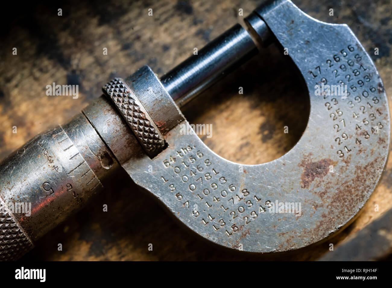 Macro de herramienta vintage Foto de stock