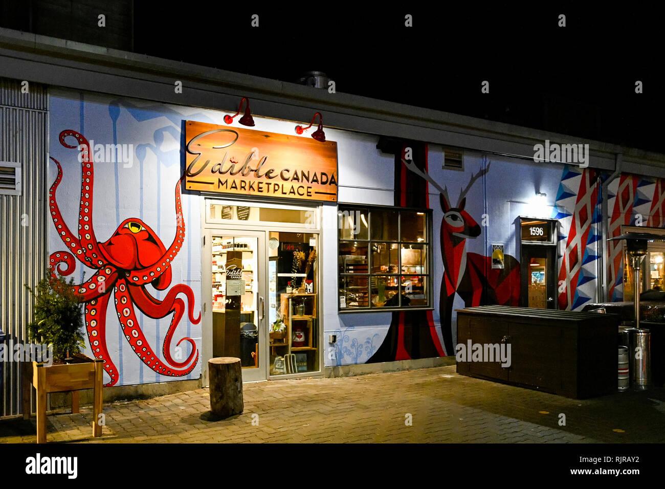 Mercado de comestibles, de Vancouver, la isla de Granville, Vancouver, British Columbia, Canadá Foto de stock