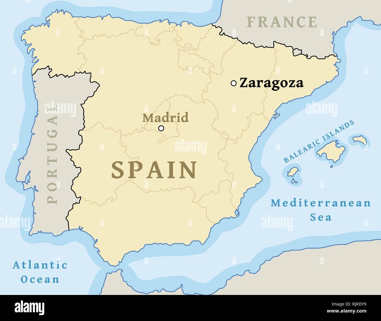 Zaragoza Mapa De Ubicacion Encontrar La Ciudad En El Mapa De