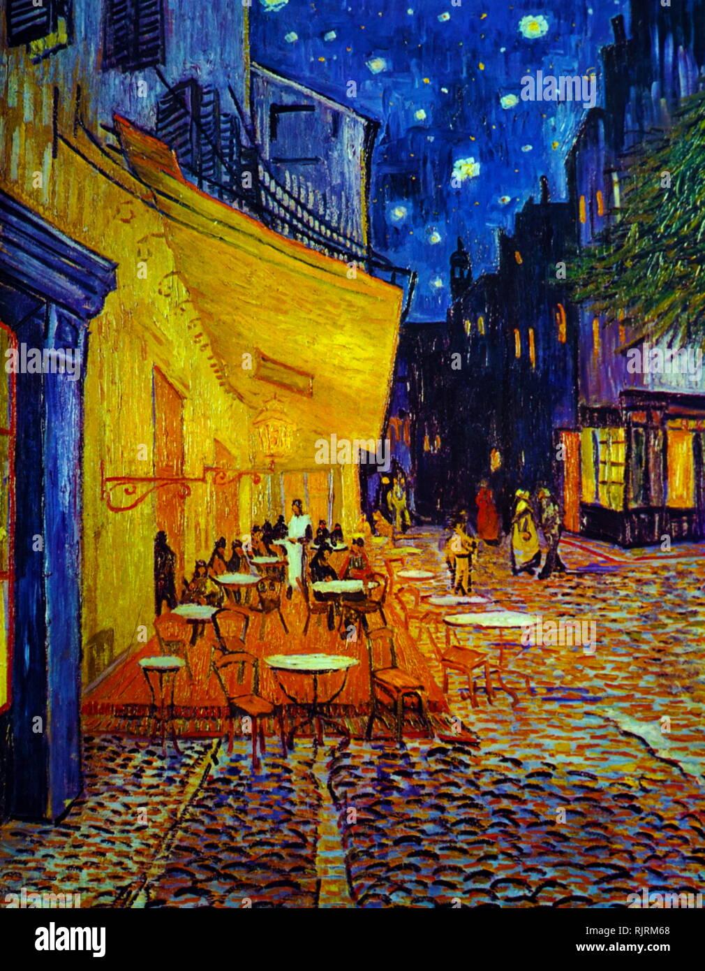 Un Café En La Terraza Por La Noche 1888 Pintura Al óleo