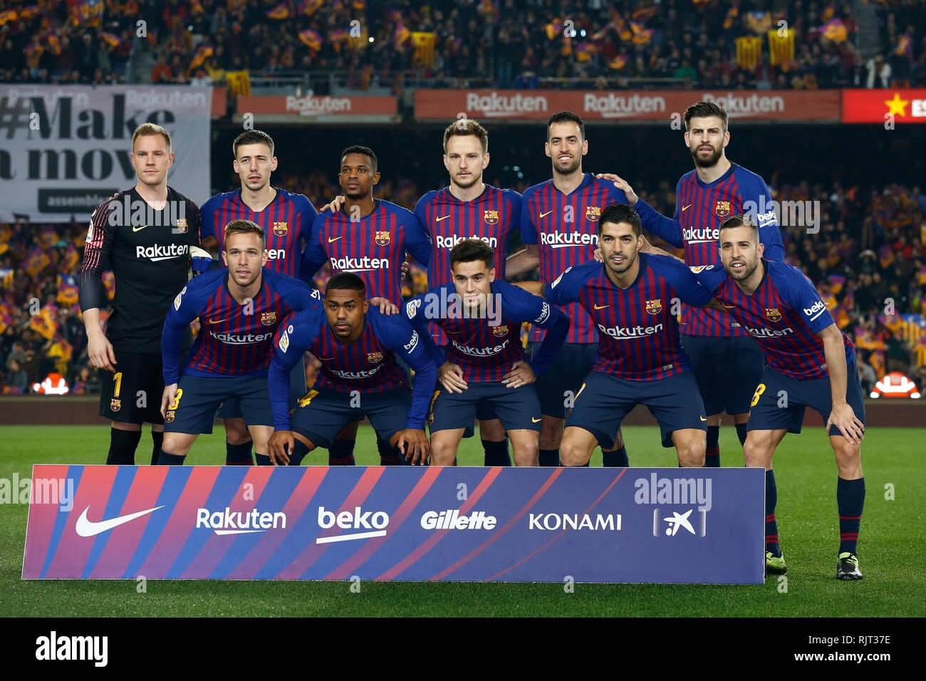 Barcelona España 6 Feb 2019 Equipo De Barcelona Grupo Line Up