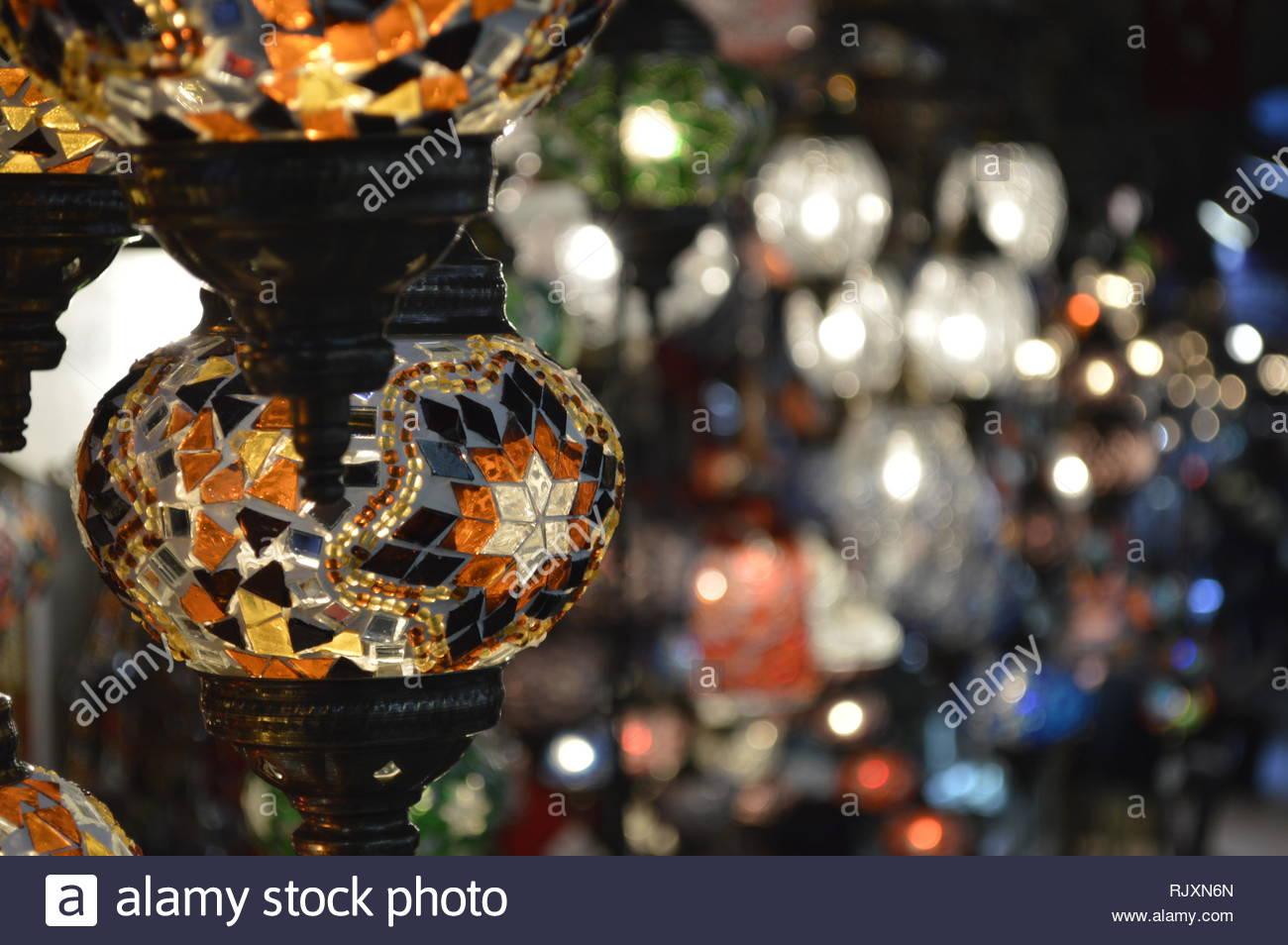 Lámparas el Bazar vende en de Estambul Gran turcasse wN80vmn