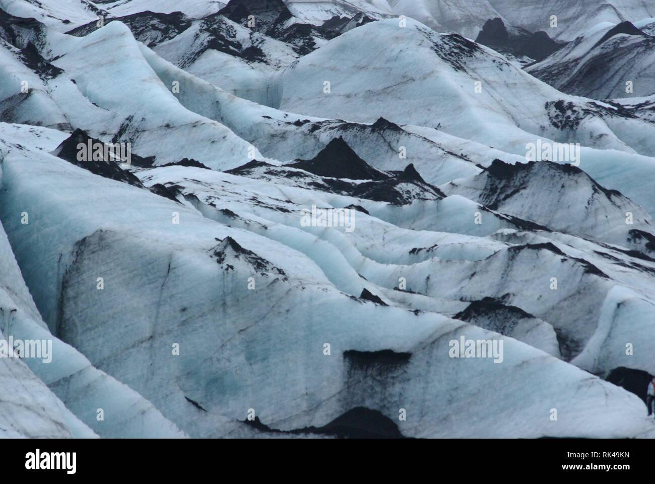 En Isla Solheimajokull Gletscher Foto de stock