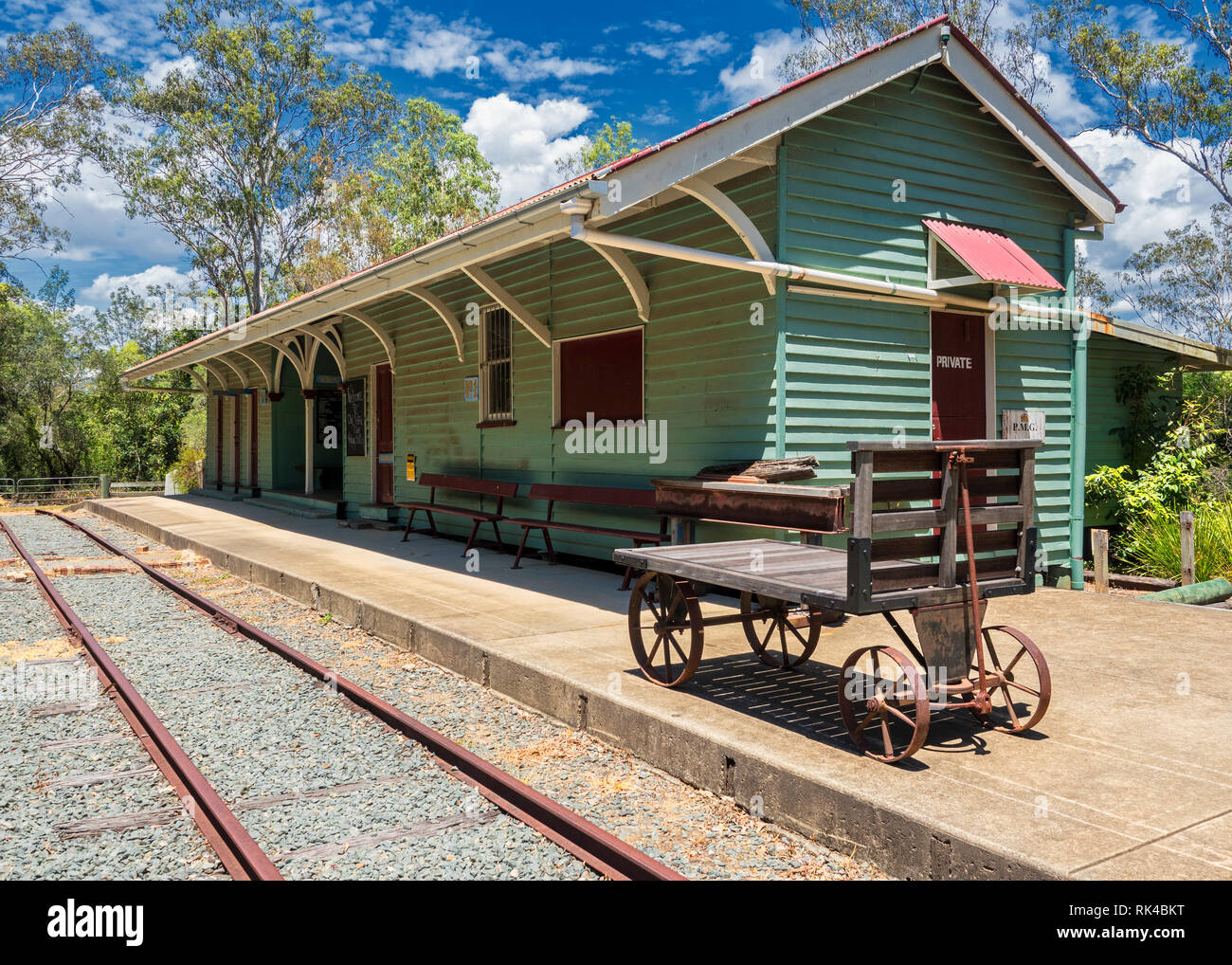 Antigua estación de Petrie Foto de stock
