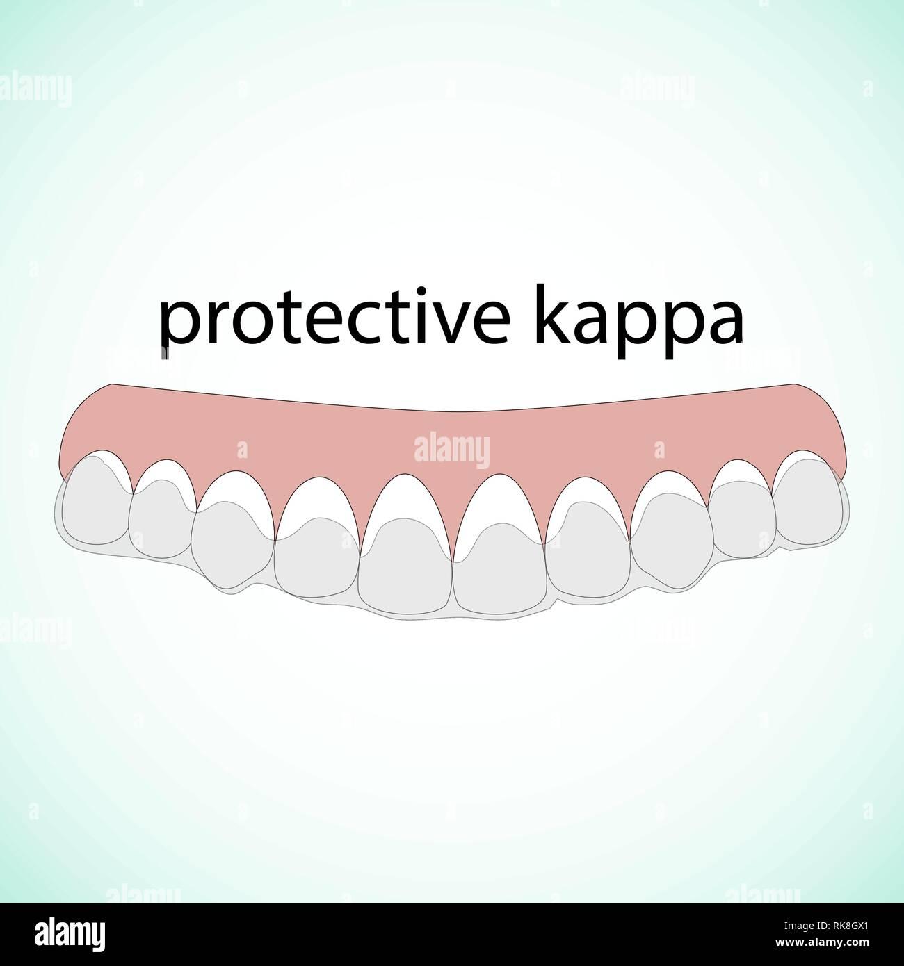 Dientes ilustración vectorial. Borra los dientes. Kappa protectora.  Concepto dental Imagen De Stock 163bf14e63d96