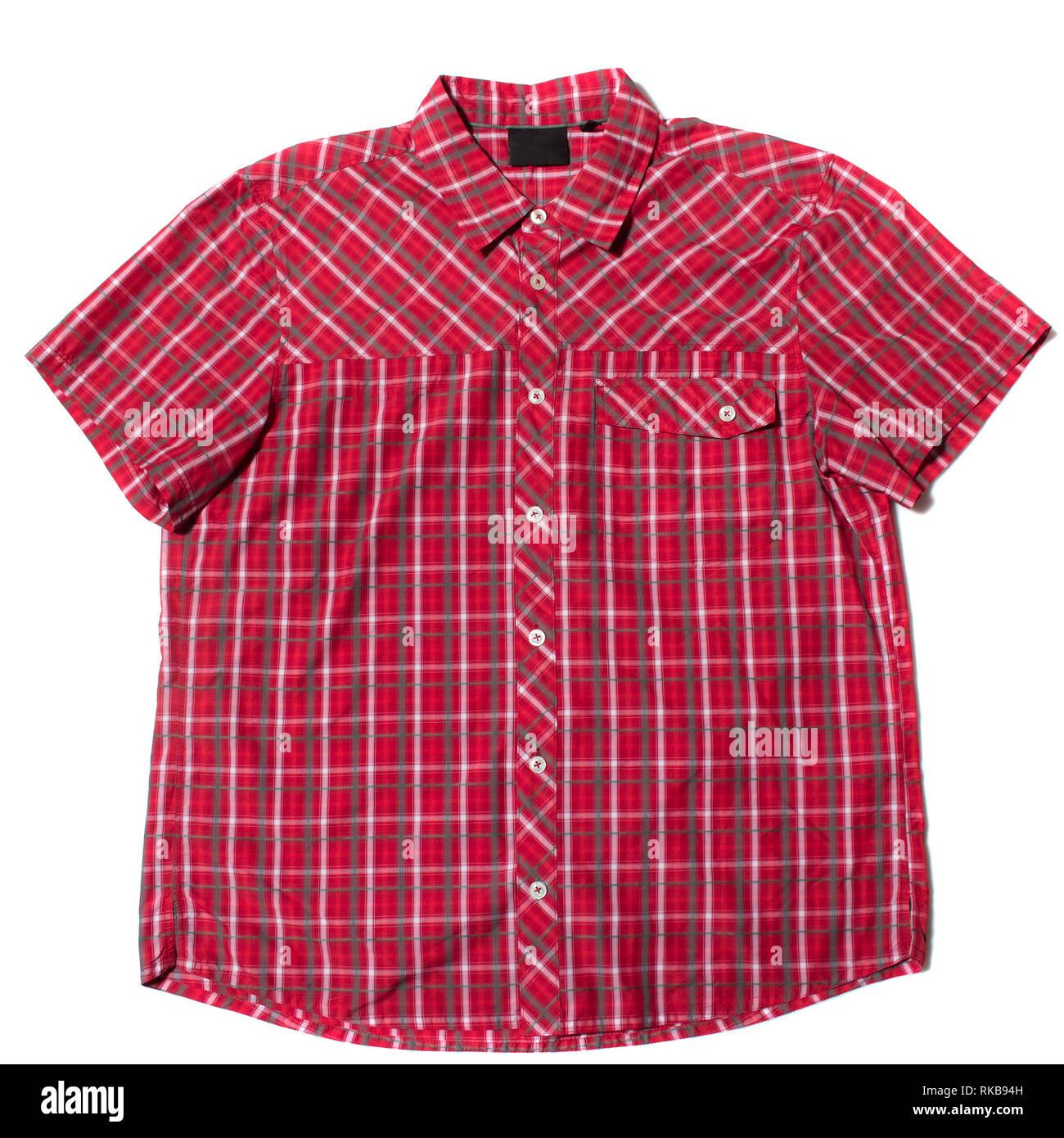 Camiseta de manga corta roja Imagen De Stock
