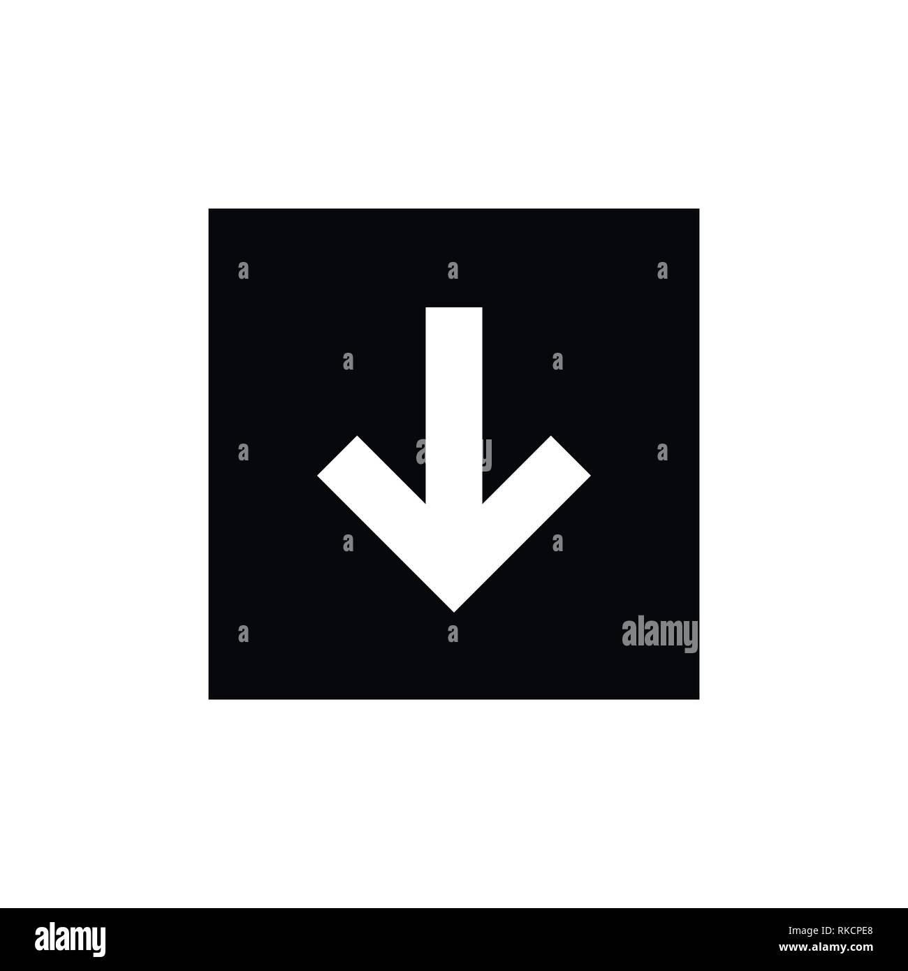 91b98d13508e0 Descargar Icono simple descarga de internet signo imagen vectorial ...