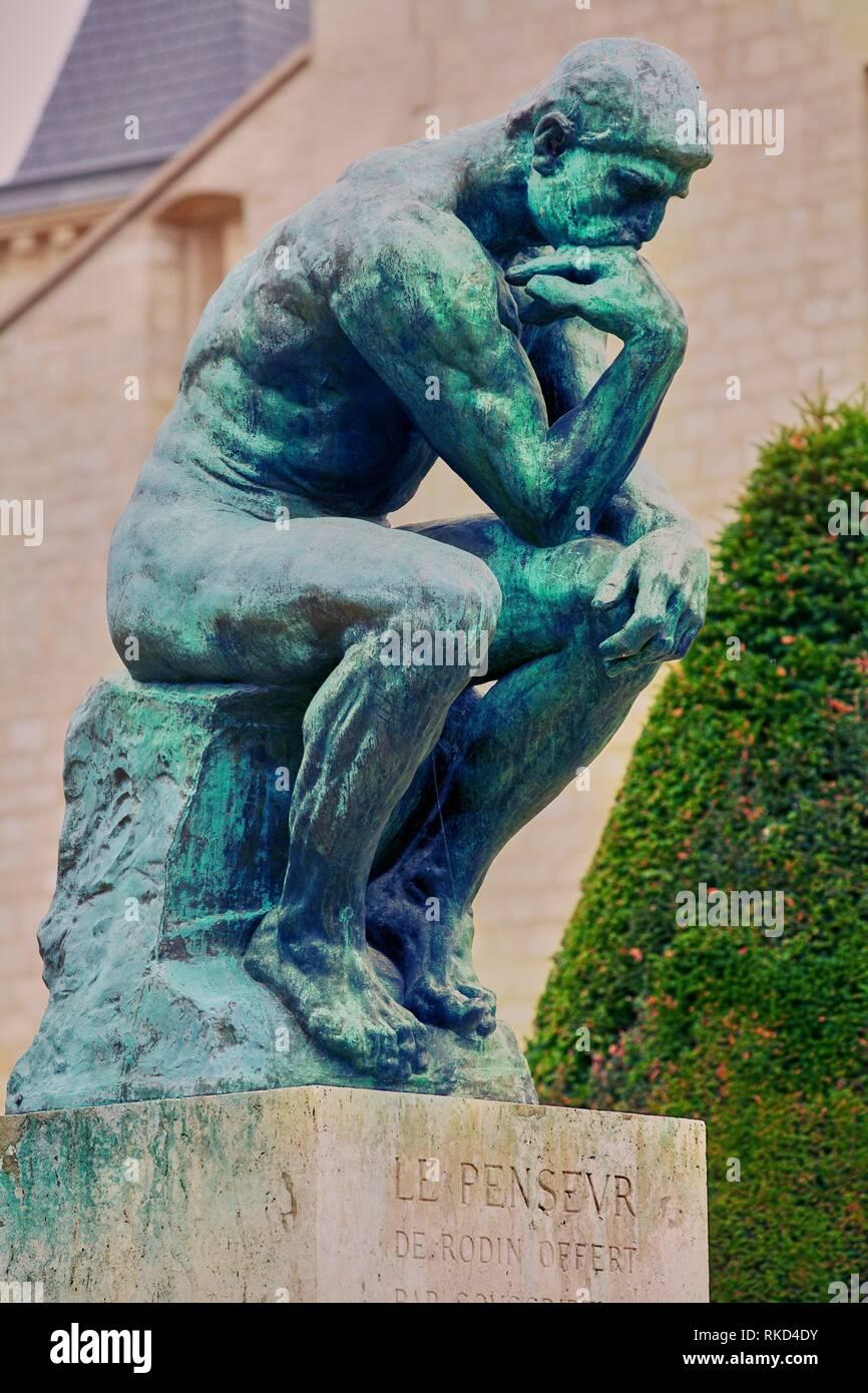 El Pensador Escultura De Auguste Rodin El Museo Rodin Paris
