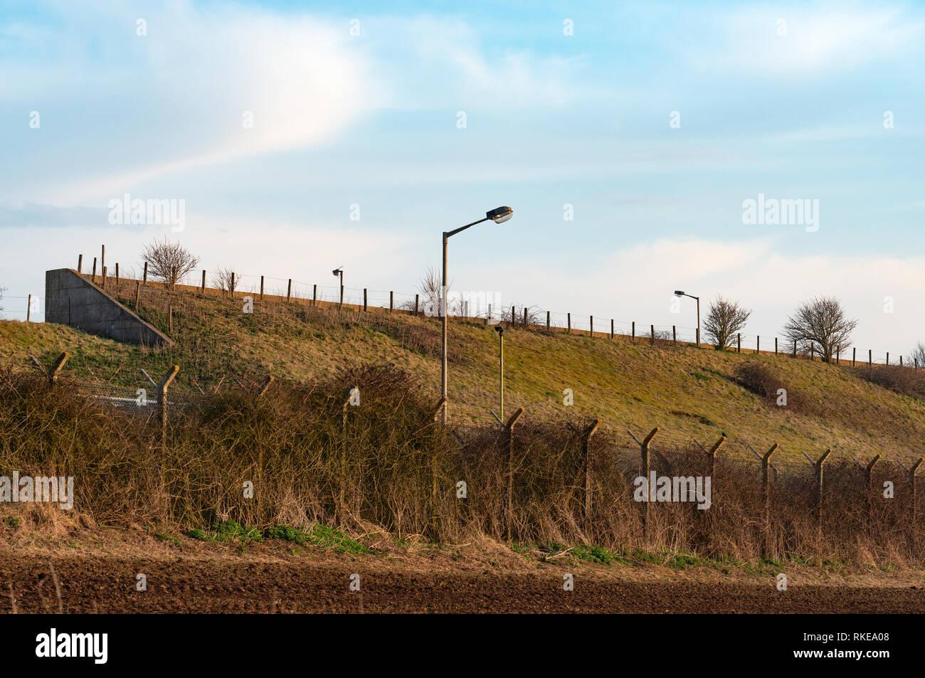 Antigua estación de radar de la guerra fría Imagen De Stock