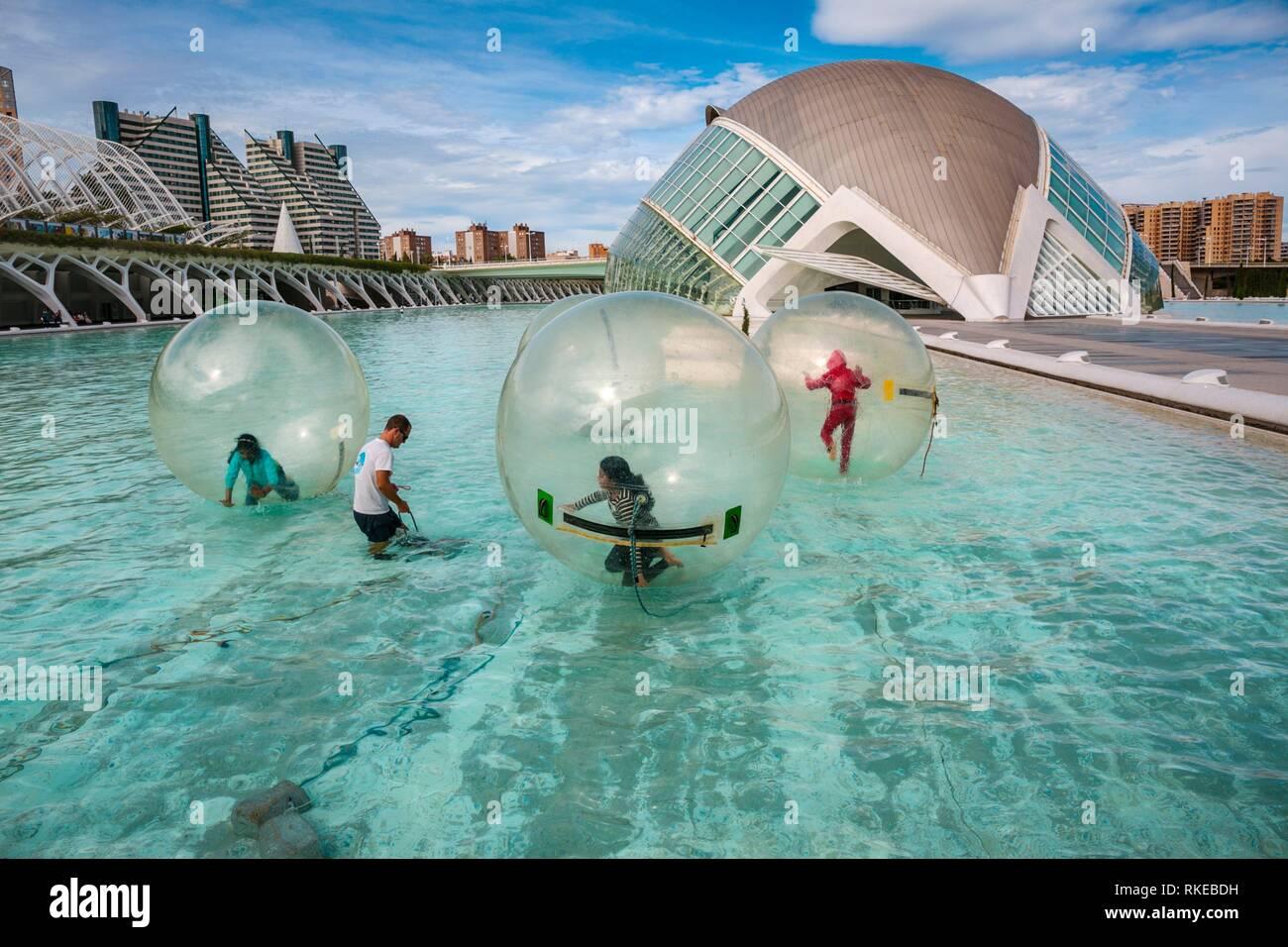 Hemisférico. Ciudad de las Artes y las Ciencias. El arquitecto Santiago Calatrava. Valencia. Comunidad Valencia. España. Europa. Imagen De Stock