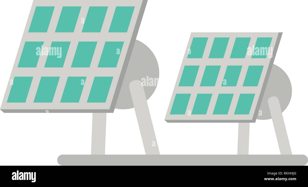 Los paneles solares de energía eléctrica Imagen De Stock
