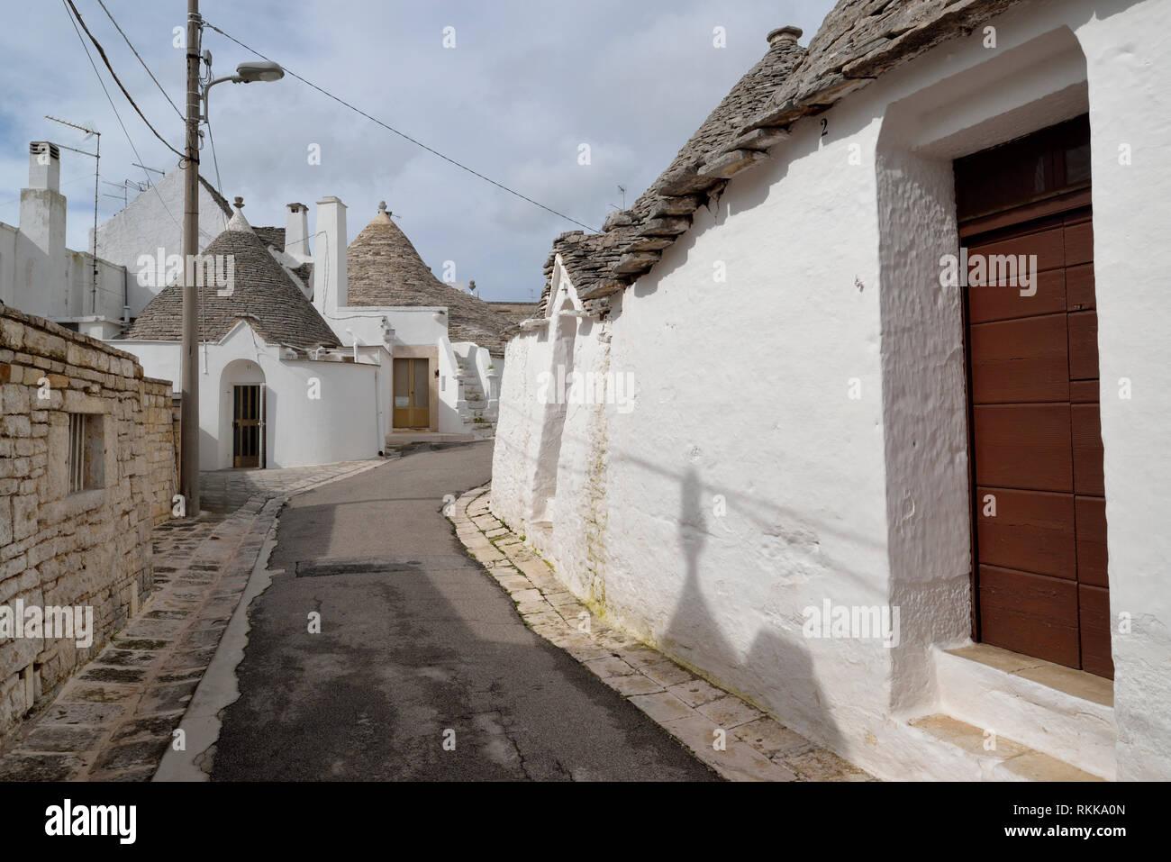 Trullo casas en Alberobello Imagen De Stock