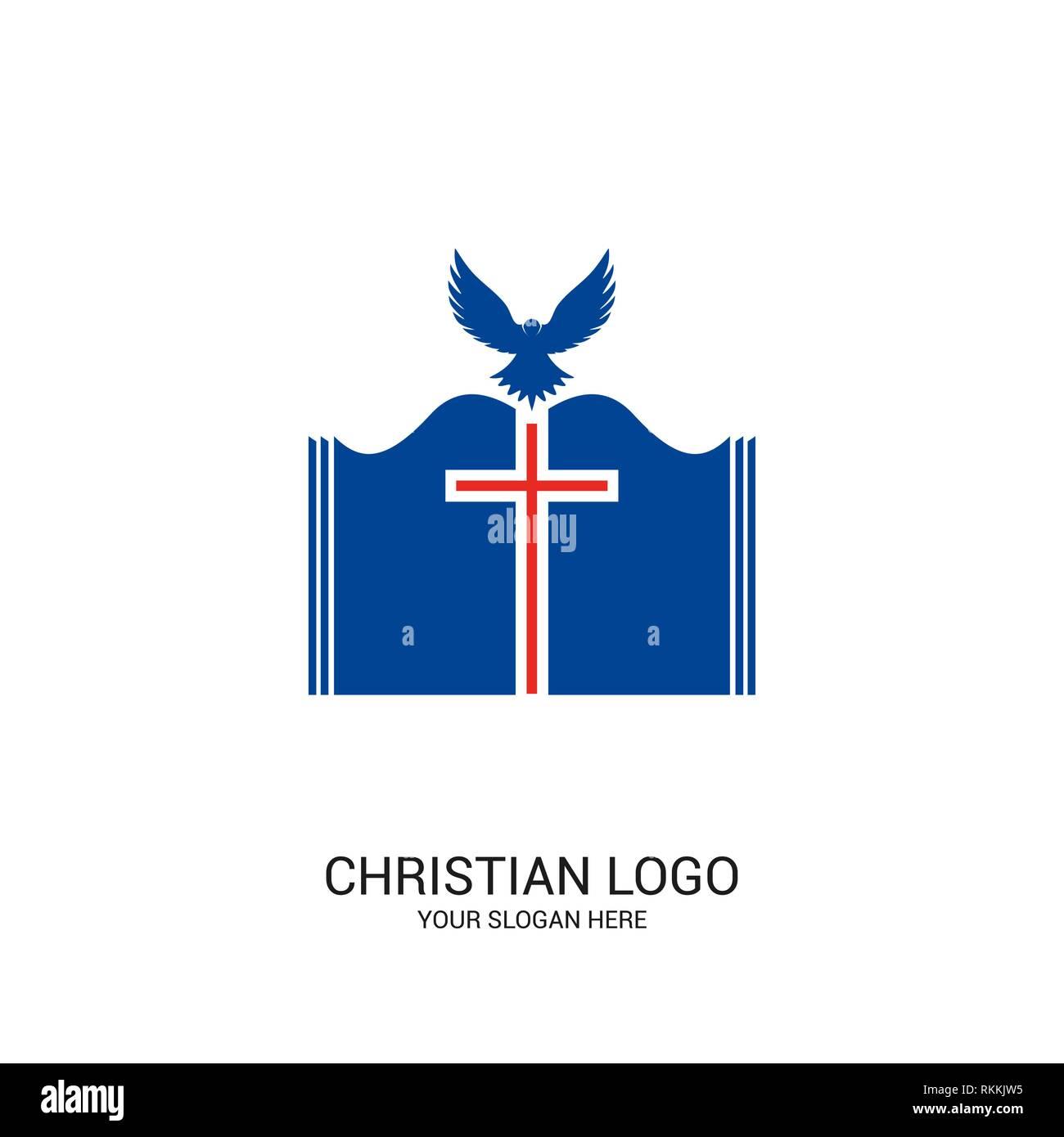 Dove With Cross Symbol Imágenes De Stock Dove With Cross Symbol
