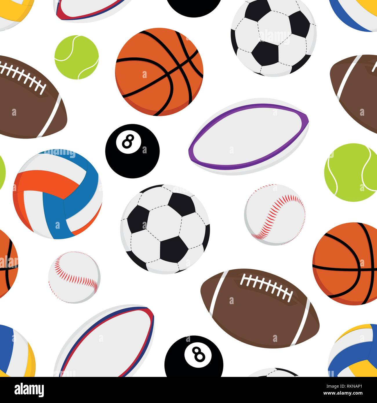 Set Seamless Pattern Volleyball Ball Imágenes De Stock   Set ... e5593301b5882