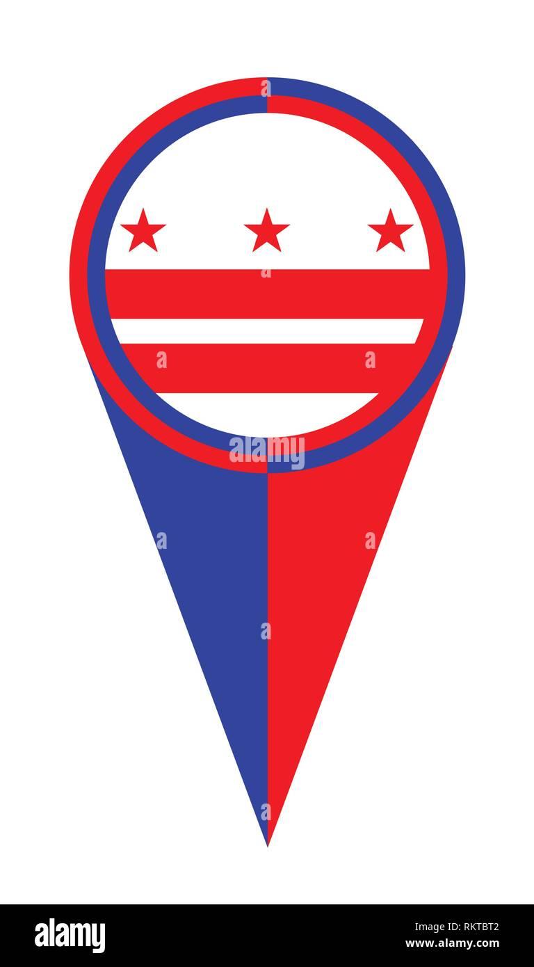 Mapa De Washington Dc Puntero Polo Ubicacion Del Icono De Marcador