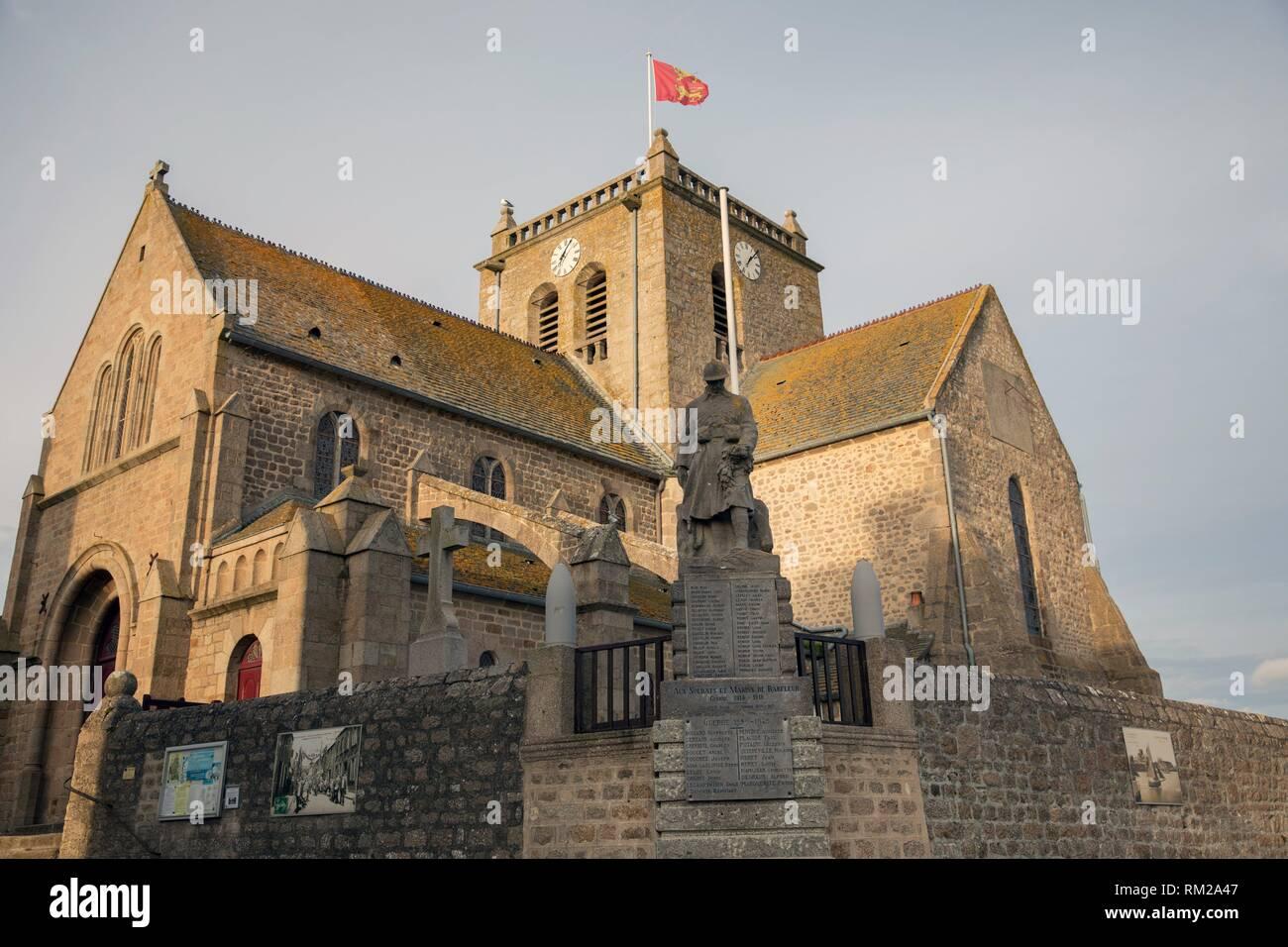 Saint-Nicolas church, Barfleur, Normandía, Francia Foto de stock