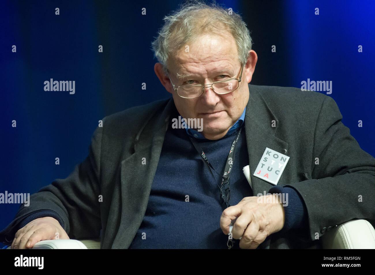 Adam Michnik, editor en jefe del periódico polaco Gazeta Wyborcza y comentarista político en Gdansk, Polonia. El 5 de febrero de 2019 © Wojciech Strozy Foto de stock