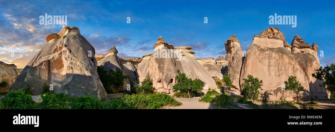 """Fotos e imágenes de las formaciones rocosas de la chimenea de hadas y los pilares de roca del """"Valle de Pasabag"""" cerca de Goreme, Cappadocia, Nevsehir, Turquía Foto de stock"""