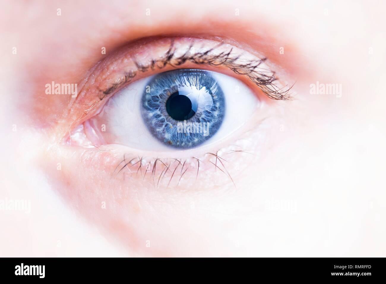 Cerca del ojo humano sano Foto & Imagen De Stock: 236544993