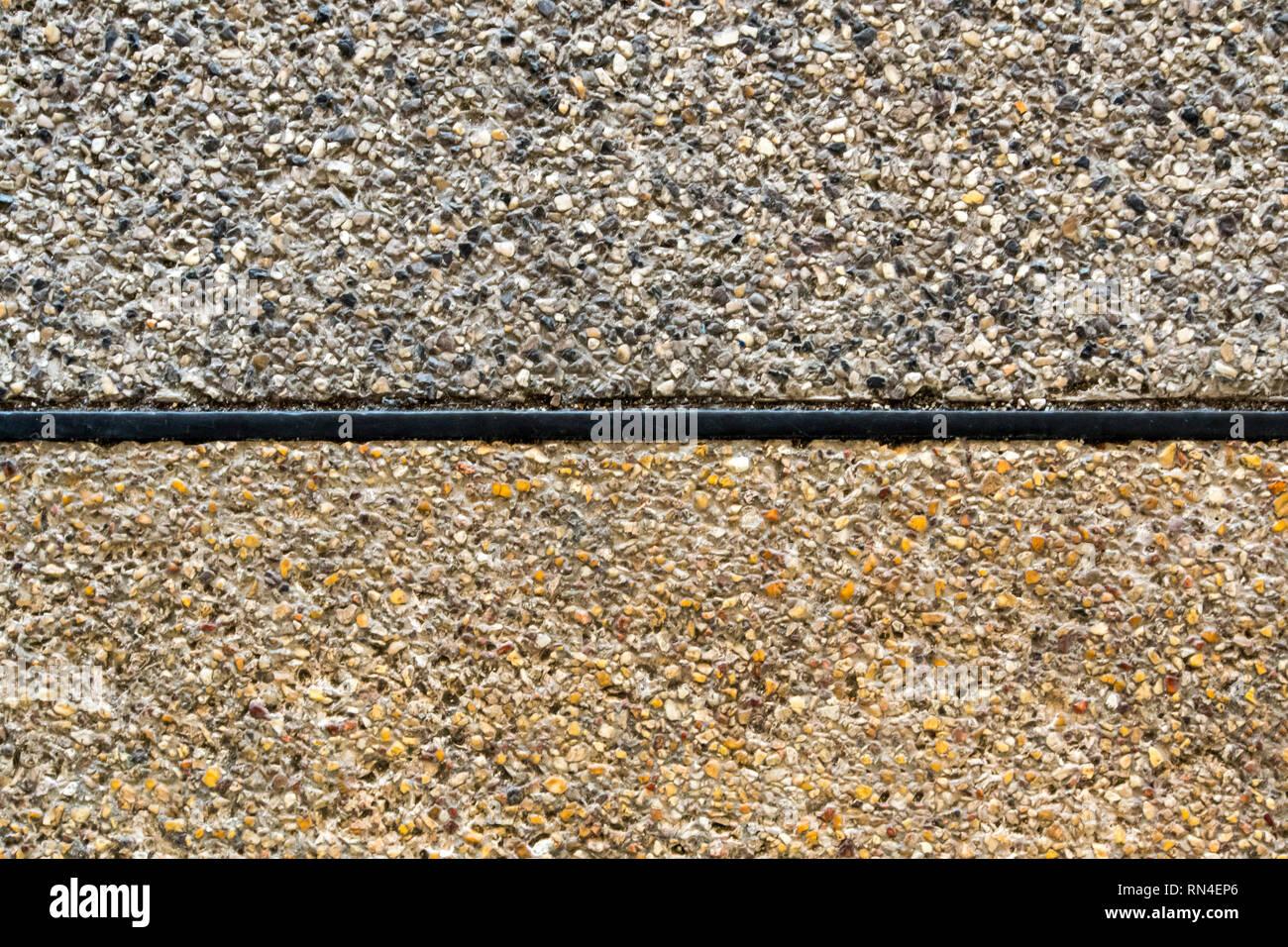 La textura del suelo acabado de agregado expuesto, antideslizante Imagen De Stock