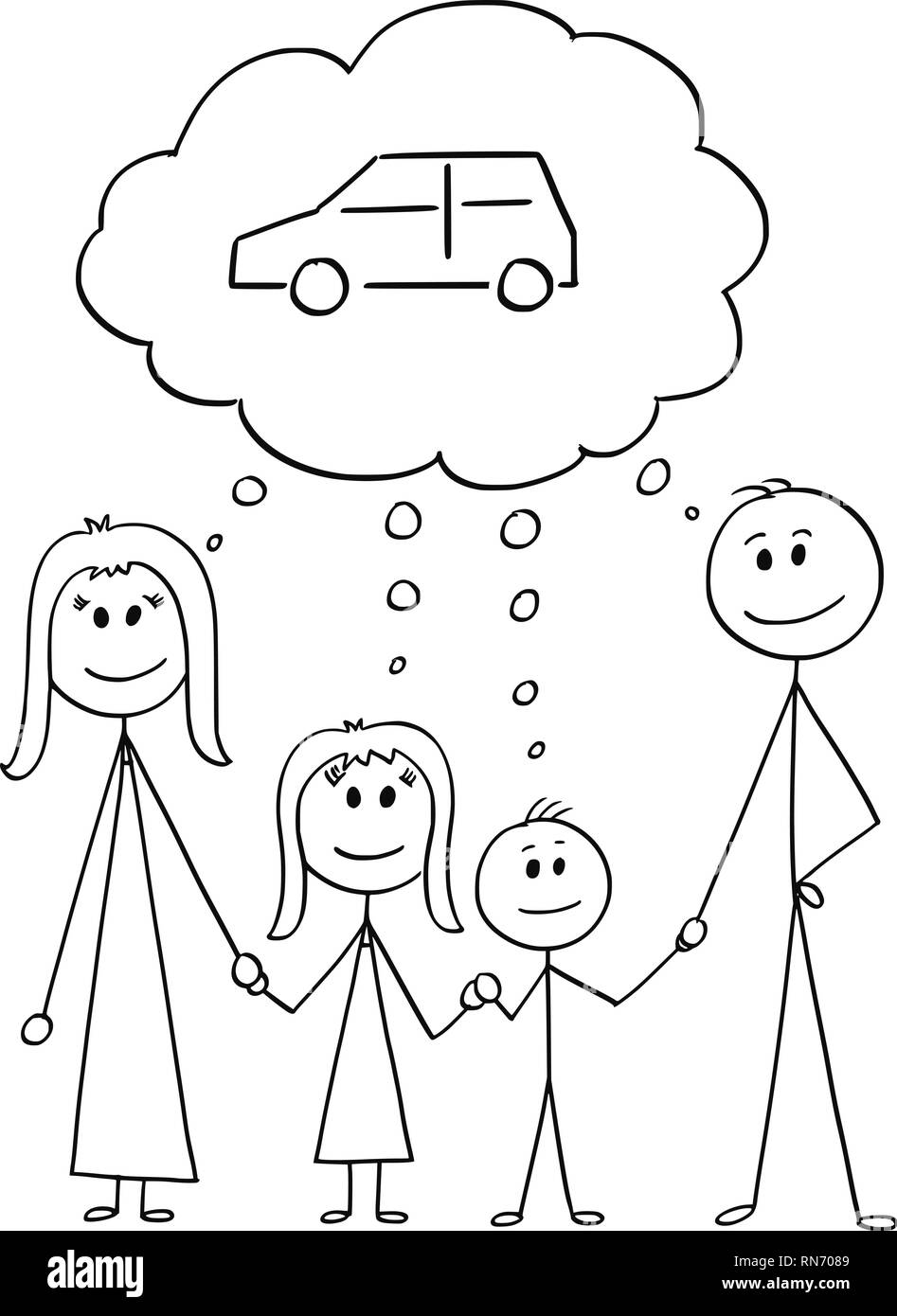 Stick Drawing Family Imágenes De Stock Stick Drawing