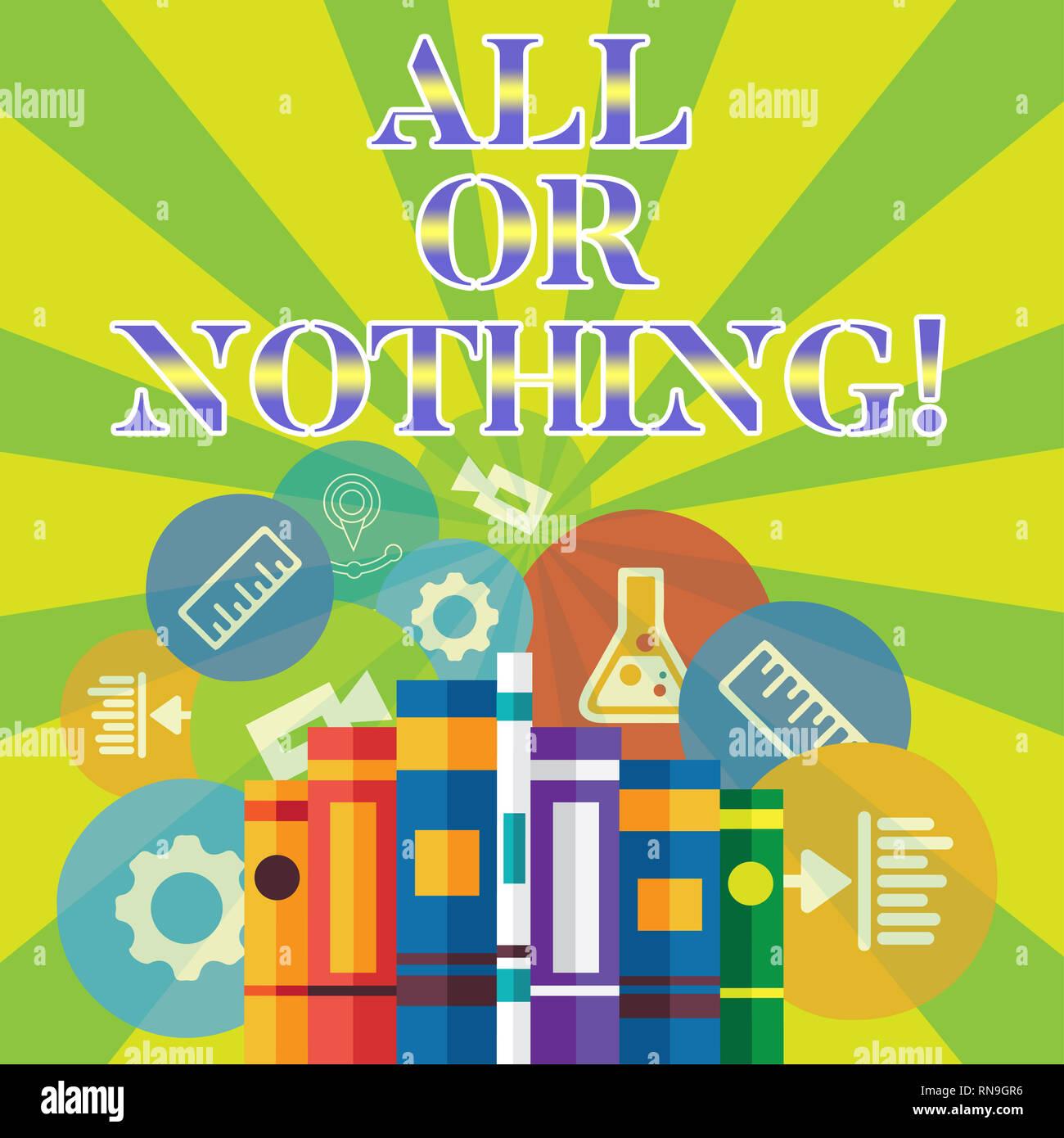 Todo y nada significado