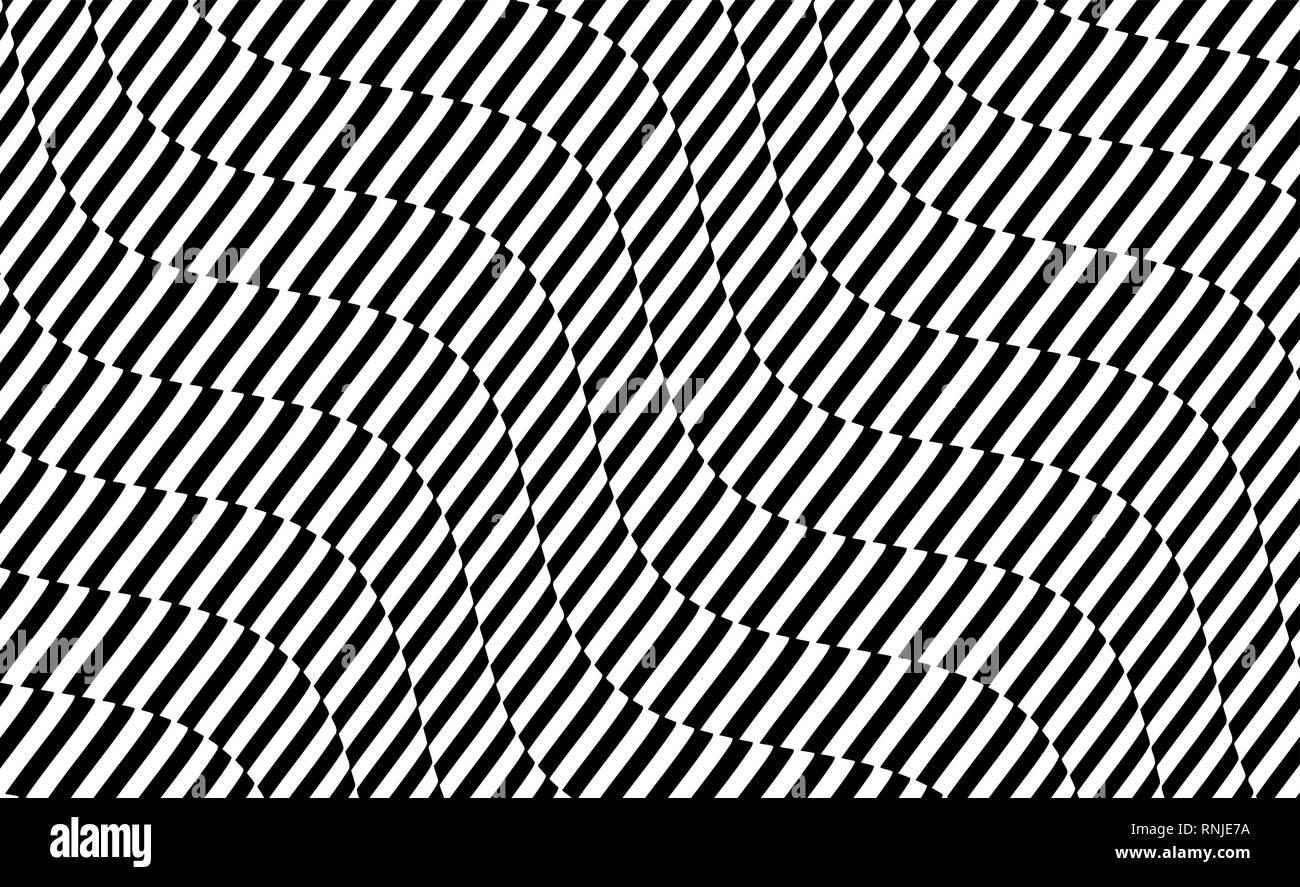 f9b230ea161 Diseño en blanco y negro. Patrón con ilusión óptica. Abstracto geométrico 3D  fondo.