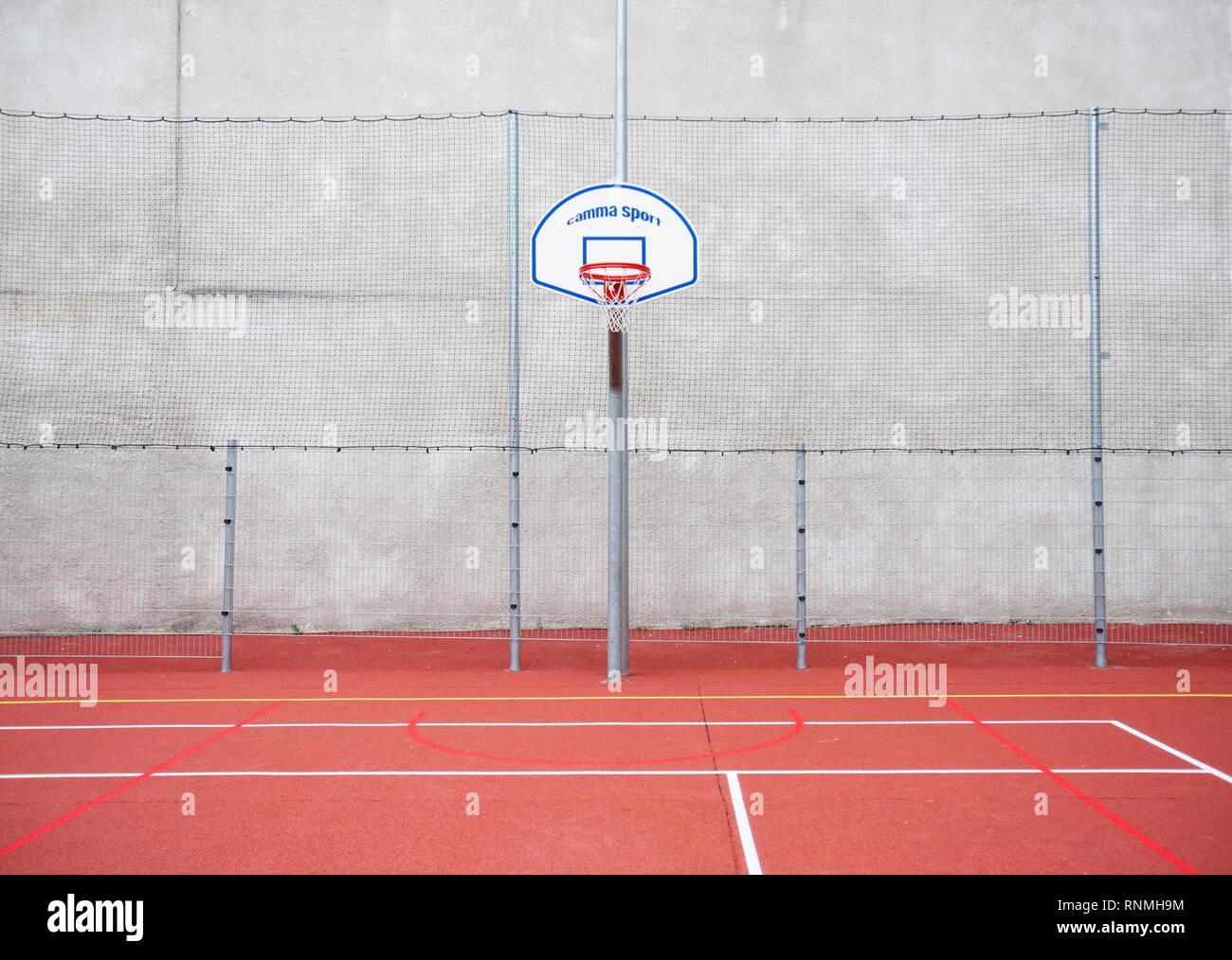Campo de Juego: tablero de baloncesto Imagen De Stock
