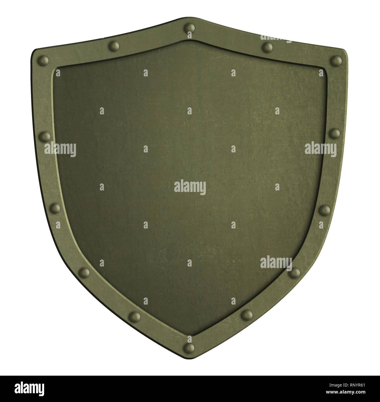 Caqui la protección metálica aislada ilustración 3d Imagen De Stock