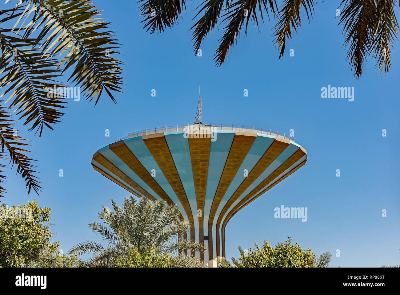 Una torre de agua de Riad Imagen De Stock