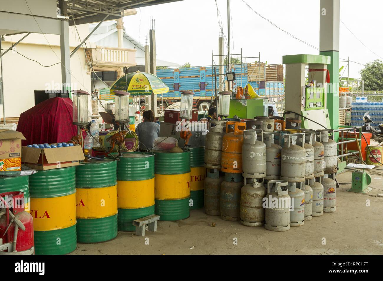 Gasolinera en Camboya Imagen De Stock