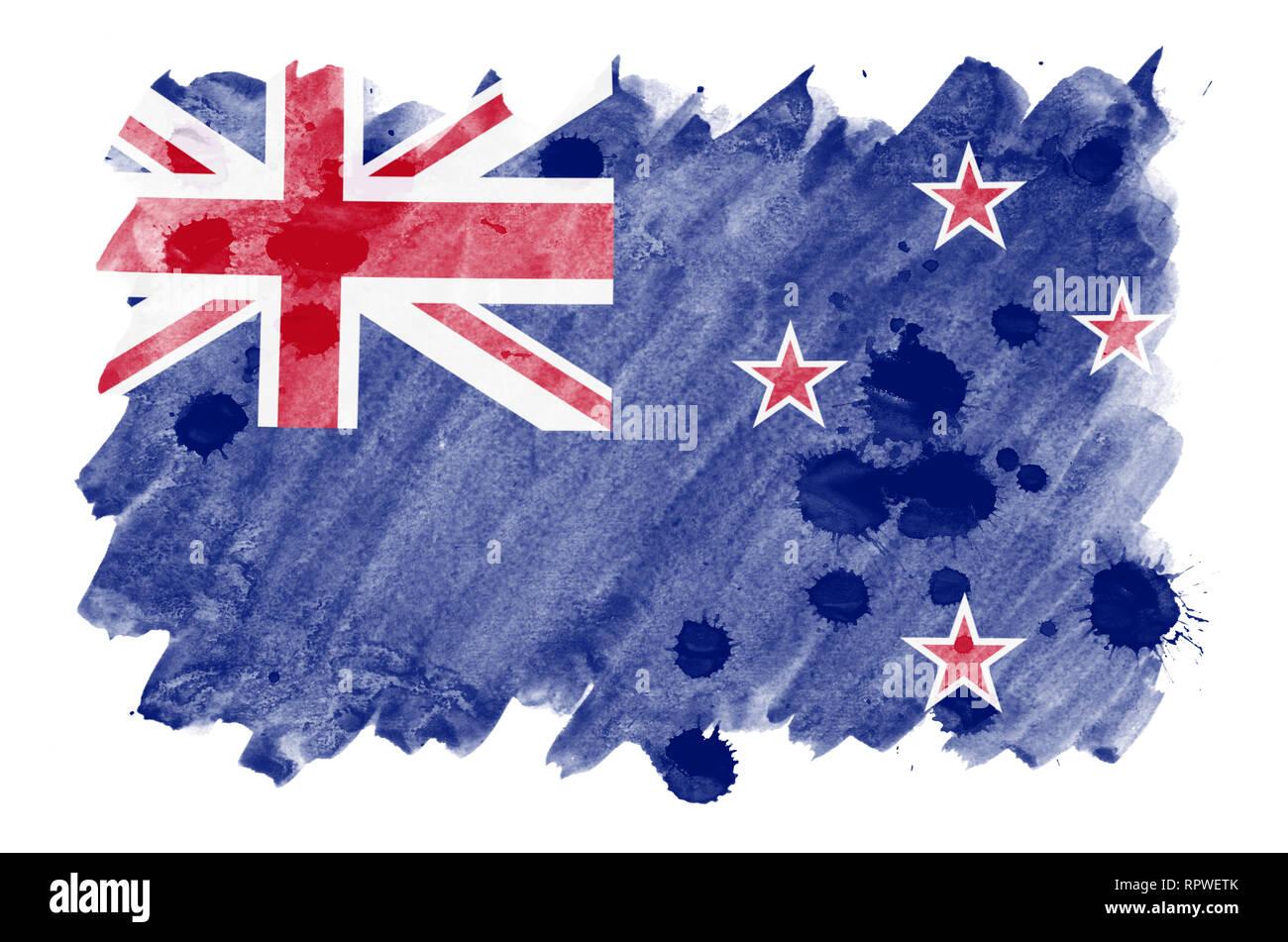 Image result for nueva zelanda bandera en acuarela