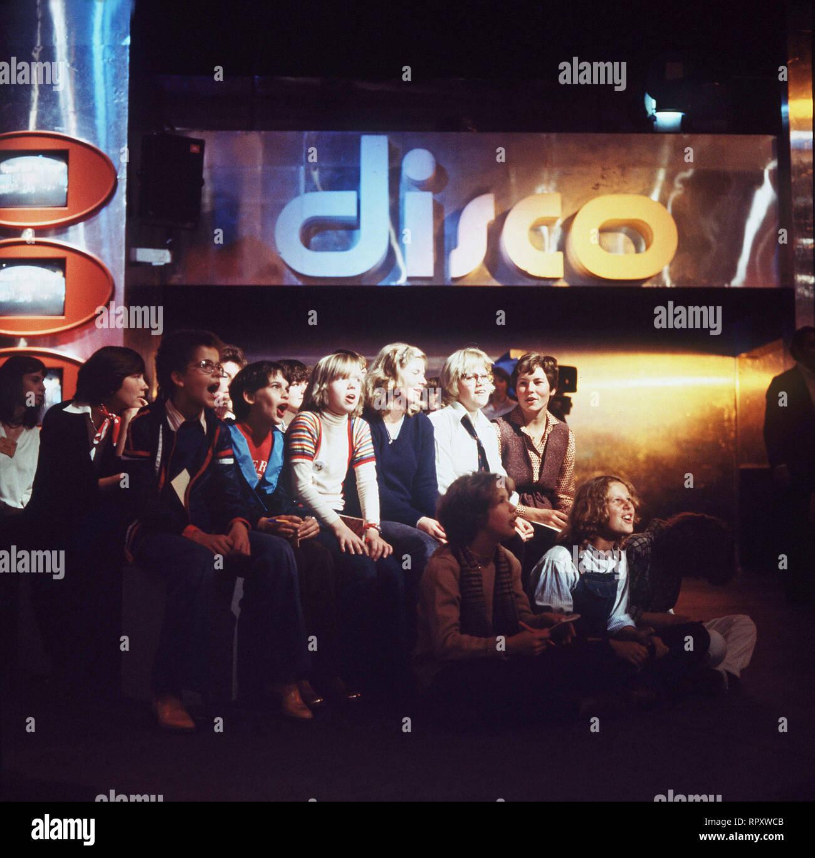 Zuschauer in der Sendung discoteca. Foto de stock