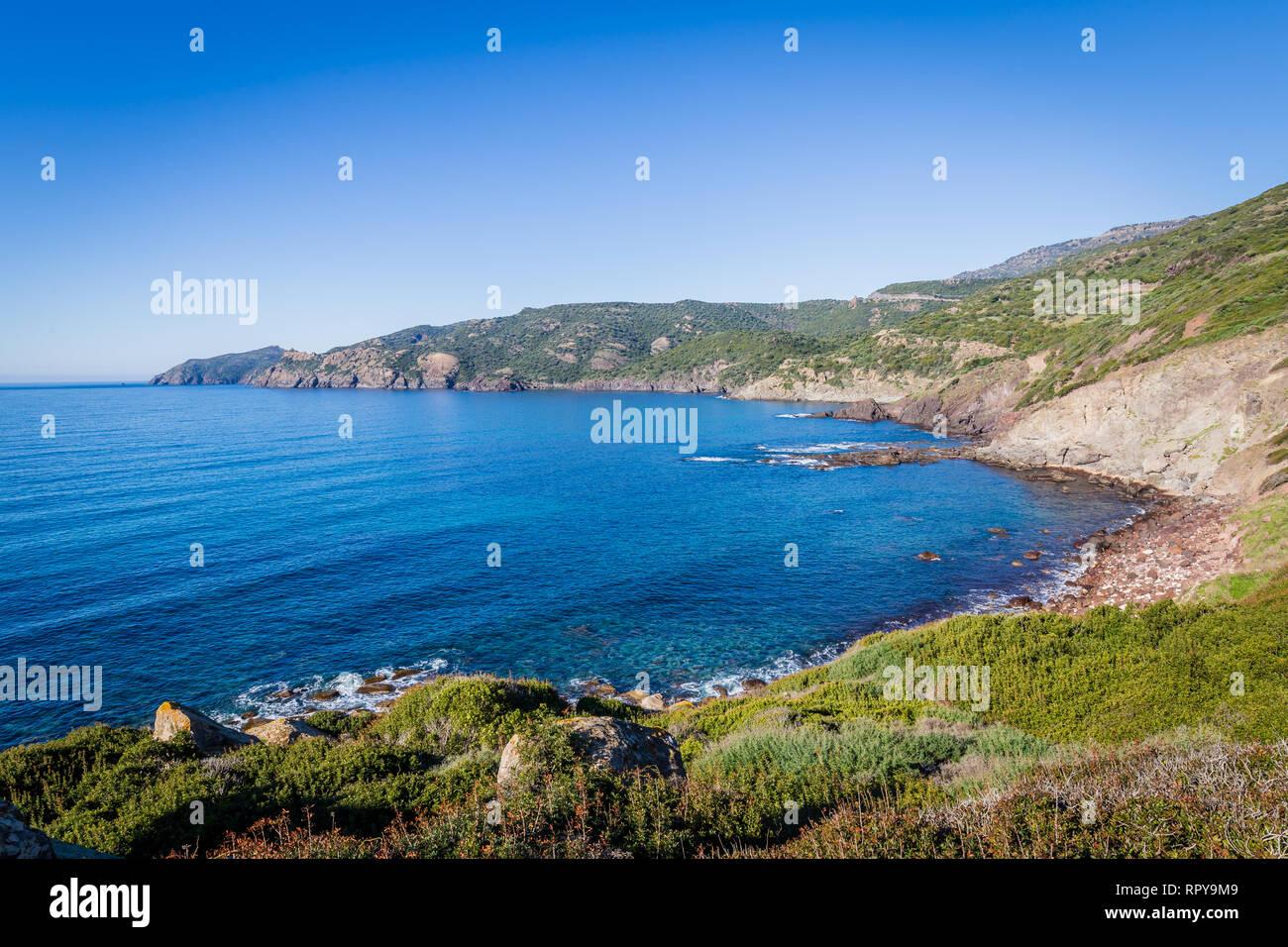 Costa noroeste entre Bosa y Alghero, Cerdeña. Italia Foto de stock
