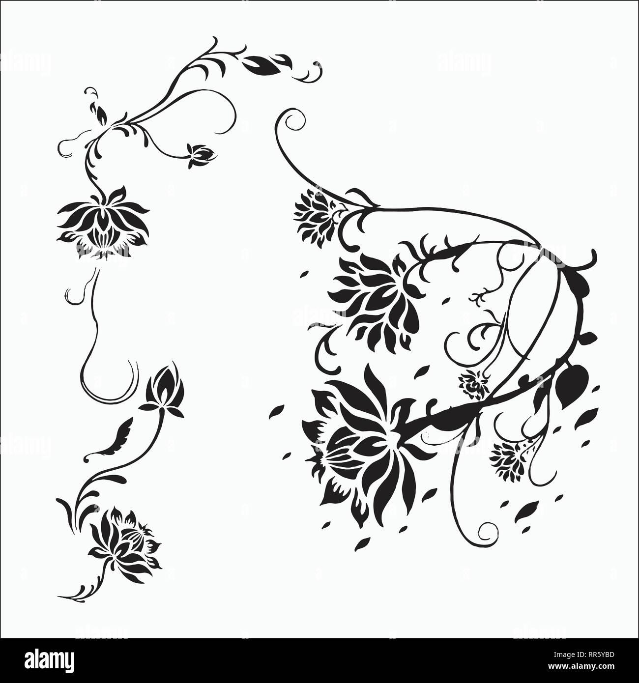 Flor De Vectores Ornamento Para Diseños De Bastidor