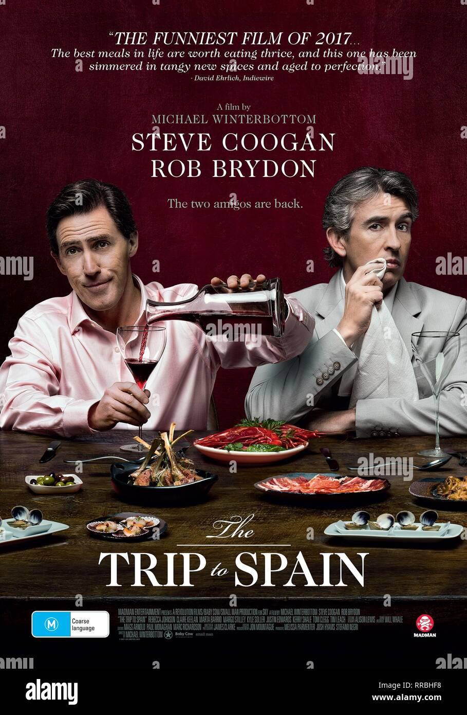 El viaje a España, Rob Brydon , Steve Coogan poster, 2017 Imagen De Stock