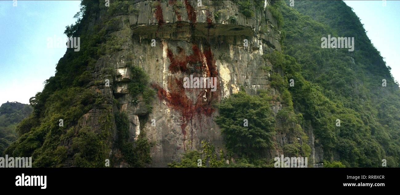 KONG: Skull Island, sangrienta mano gigante de impresión, 2017 Imagen De Stock