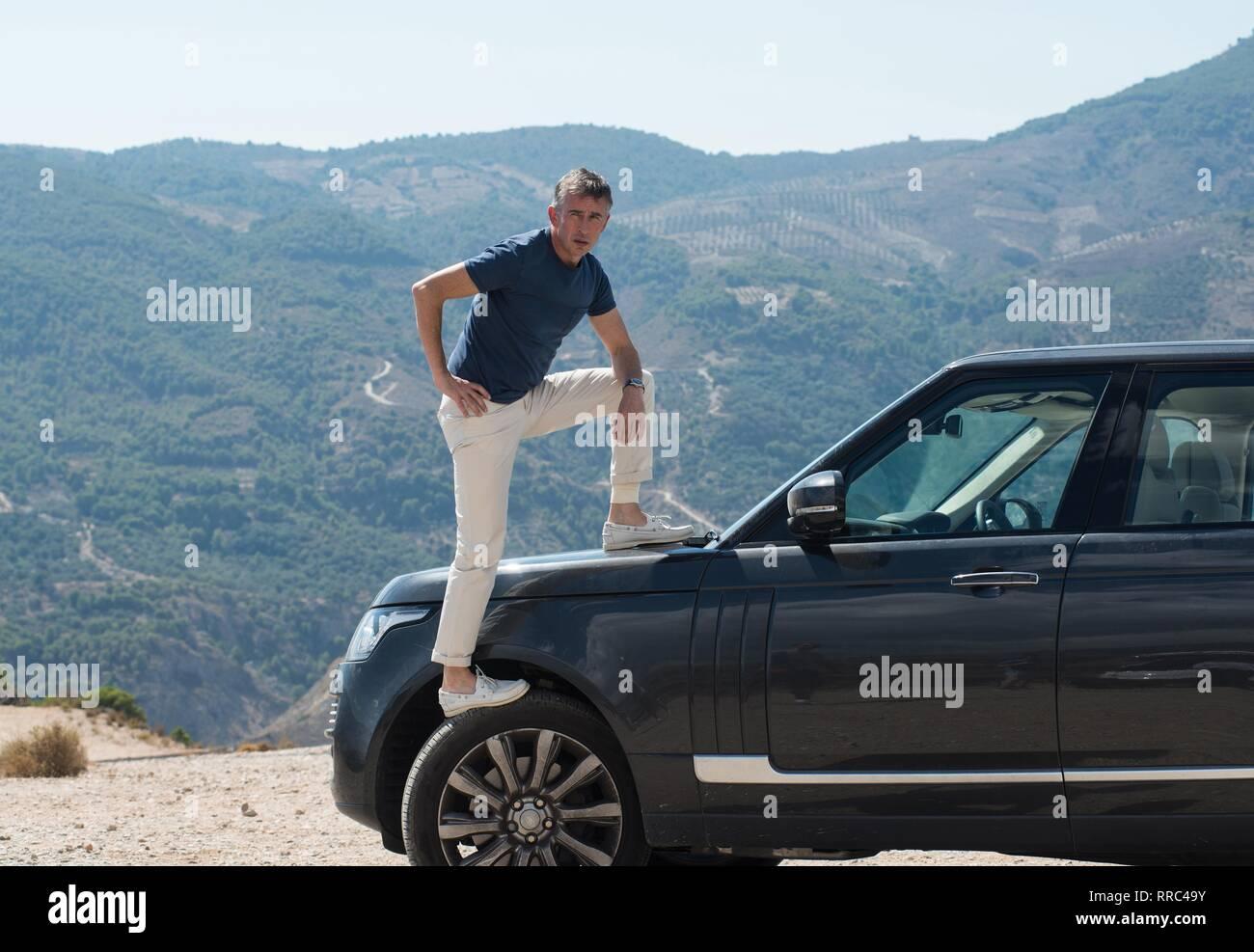 El viaje a España, Steve Coogan, 2017 Imagen De Stock