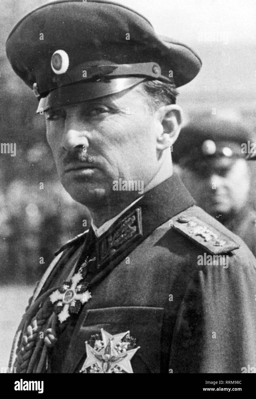 Kyril, 17.11.1895 - 1.2.1945, príncipe de Bulgaria, presidente de la regencia el abogado 28.8.1943 - 9.9.1944, retrato, 1943-Clearance-Info Additional-Rights-Not-Available Imagen De Stock