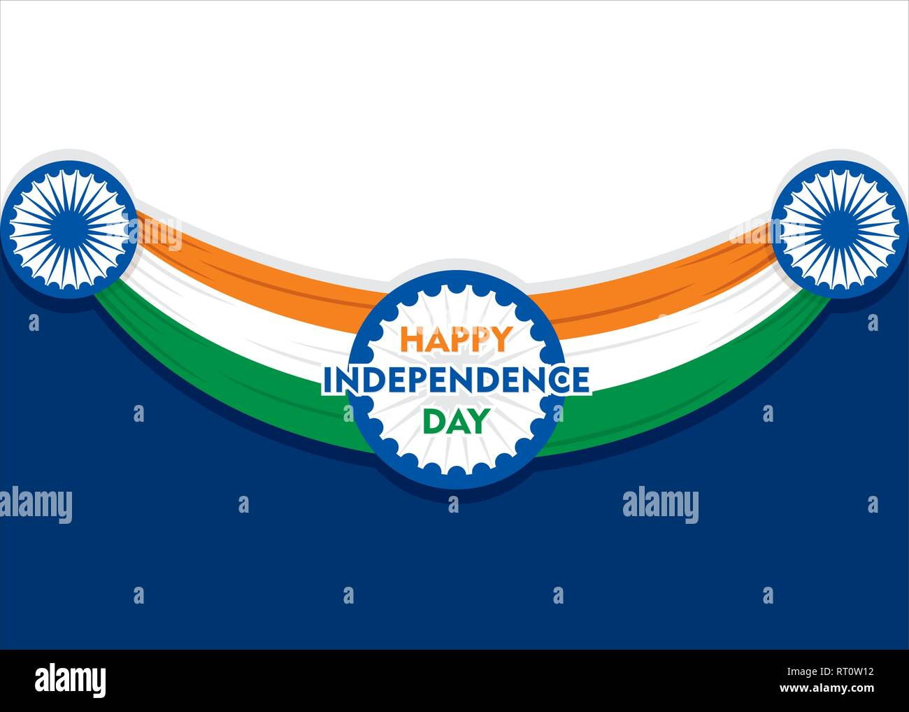 Feliz día de la independencia de la India la ilustración vectorial, diseño de póster Imagen De Stock