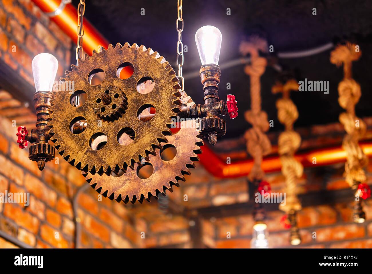 Steampunk Estilo Arquitectónico Elemento De Diseño De