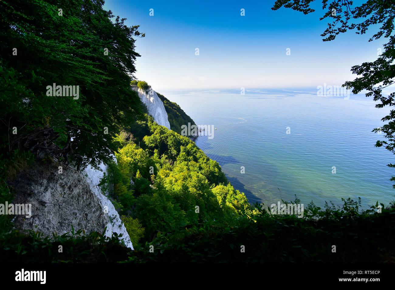 Alemania, Ruegen, Parque Nacional Jasmund, tiza cliff Koenigsstuhl Foto de stock