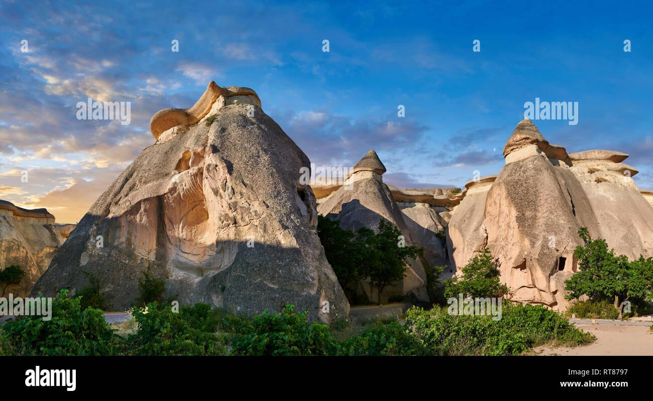 """Fotos e imágenes de las chimeneas de hadas formaciones rocosas y pilares de roca """"valle"""" Pasaba cerca de Goreme, Capadocia, Nevsehir, Turquía Foto de stock"""