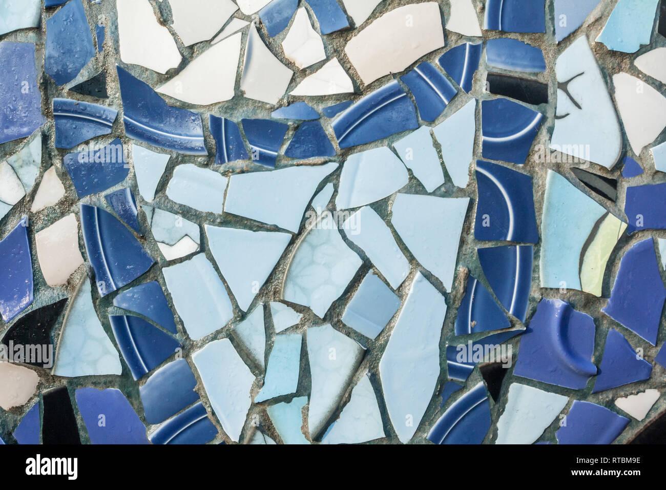 Antecedentes De La Húmeda Pared De Mosaicos Decorativos De