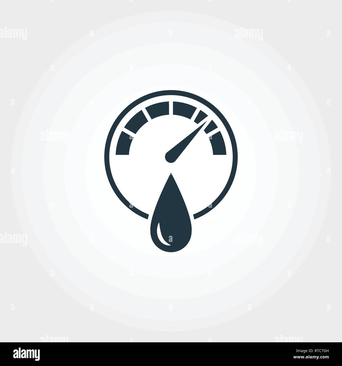 Icono de medición higrómetro colección de iconos. Diseño de elemento creativo higrómetro icono. Diseño Web, aplicaciones, uso de software. UI y UX Imagen De Stock