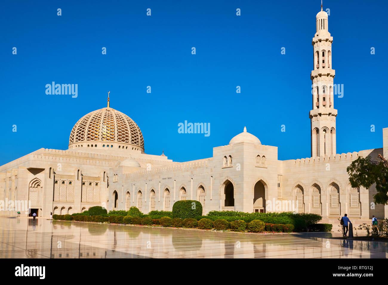 Sultant de Omán, Mascate, la Gran Mezquita Sultan Qaboos Imagen De Stock