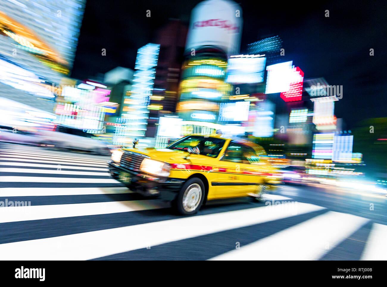 Taxi Ginza de Tokio Japón cruce Imagen De Stock