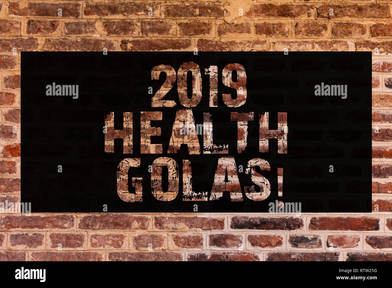 Signo De Texto Mostrando 2019 Salud Golas Foto Año Nuevo