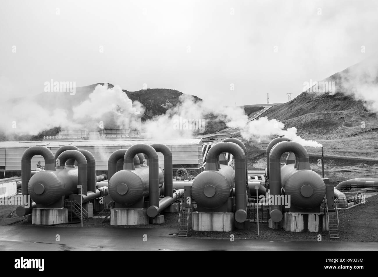 La planta de energía térmica en Islandia Imagen De Stock